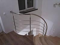 Ограждение винтовой лестницы из нержавейки Крюковщина