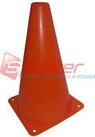 Фишка для разметки дистанции в форме конуса. Высота 23см. Диаметр 13 см. Средняя. Оранжевая.