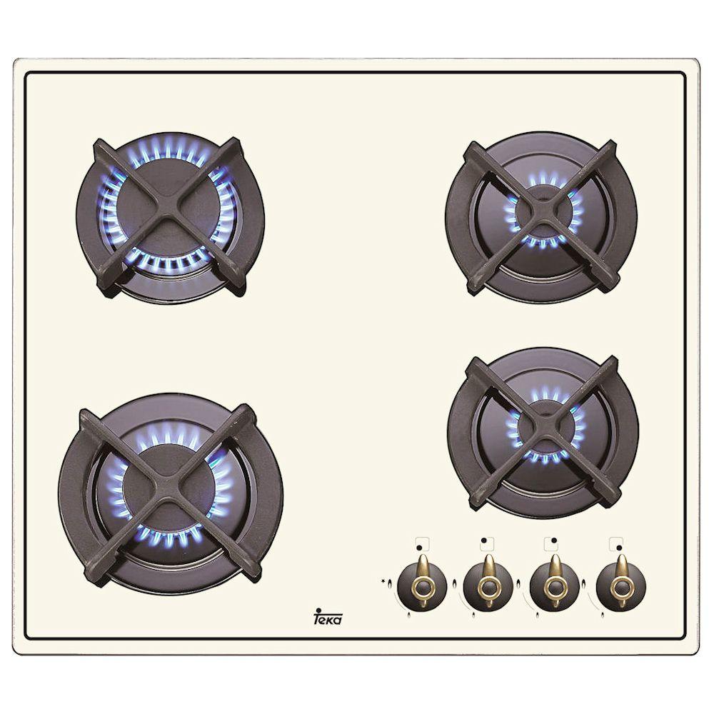 """Варочная поверхность Teka ER 60 4G AI AL CI (Rustica), """"білий крем"""", ручки """"латунь"""" 40260711"""