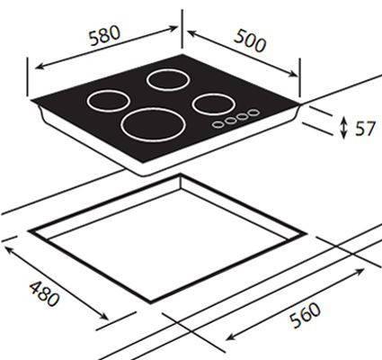 """Варочная поверхность Teka ER 60 4G AI AL CI (Rustica), """"білий крем"""", ручки """"латунь"""" 40260711, фото 2"""