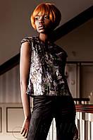 Стильная женская серая блуза Халли Jadone  42-50 размеры