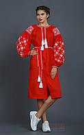 Красное платье - вышиванка для женщин, фото 1