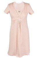 Сорочка нічна Жіноча TM Muzzy для годування Горошок персикова