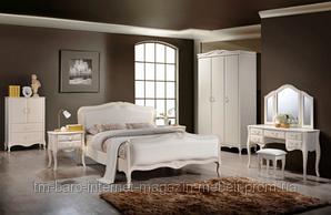"""Спальня """"Богемия"""", массив гевеи, античный белый, Domini"""