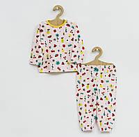 Хлопковая пижама с ярким рисунком для девочки