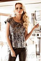 Стильная женская бежевая блуза Халли Jadone  42-50 размеры