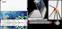 Карандаши цветные Marco 7100-24TN RAFFINE 24 цвета в металлическом пенале, диаметр 3,2мм