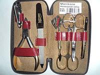 Маникюрный набор из 7 предметов Niegelon 07-0337 бордовый