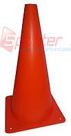Фишка для разметки дистанции в форме конуса. 38 см.*16 см. Большая. Оранжевая.