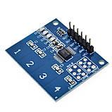 4 Канала цифровой сенсорный ёмкостной датчик переключатель кнопка модуль TTP224 TTP-224 для Arduino, фото 4