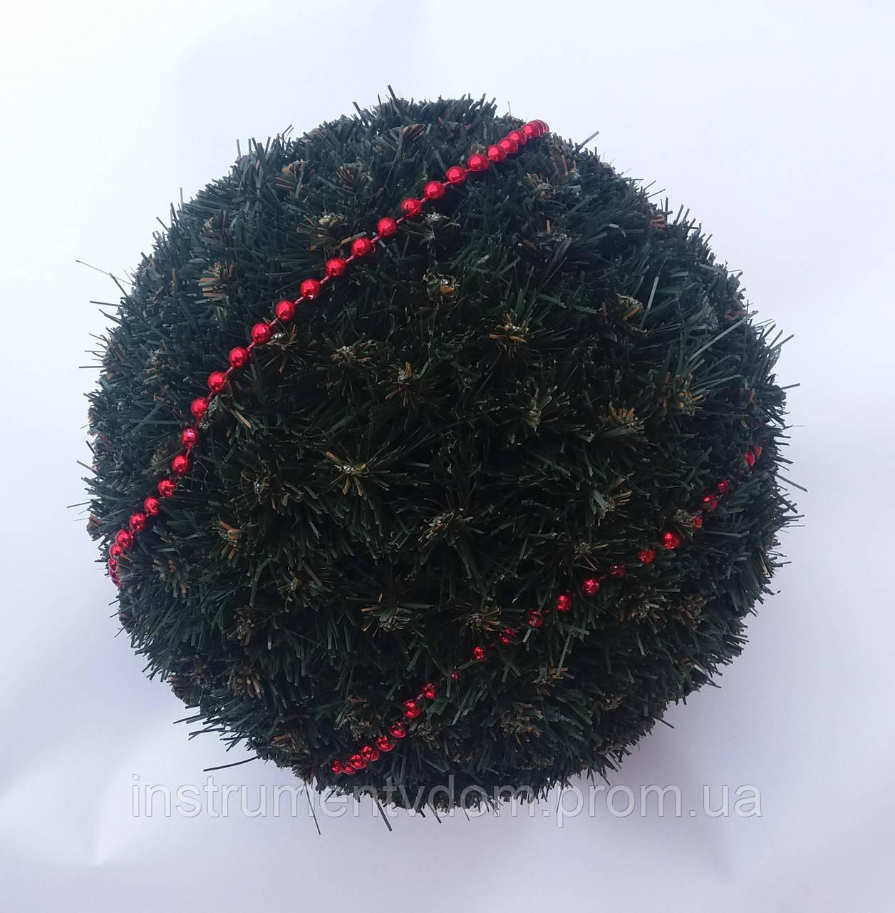 Шар декоративный новогодний из хвои