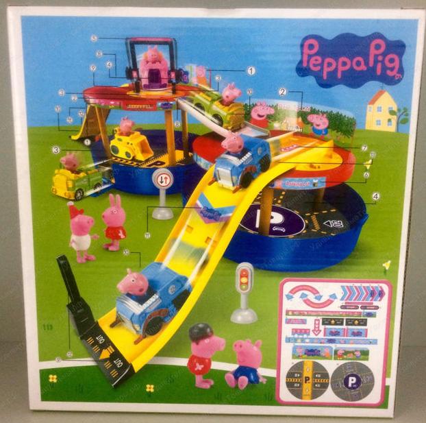 Парковка Свинка Пеппа в пластиковом боксе XZ376