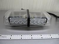 Световая панель проблесковая  LED - 650-12-24V оранжевая. ( прозрачный корпус ), фото 1