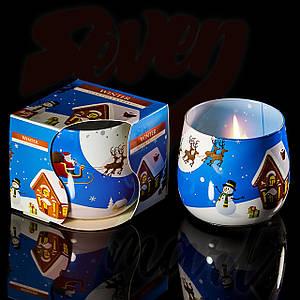 Свечи в стакане Snow ball Снежок ароматизированные