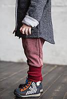 80-86 см. Штаны с заниженной матней и высоким манжетом. Бордовые. , фото 1