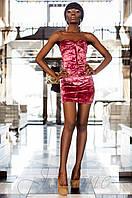 Бархатное женское пурпурное платье  Ролли_2 Jadone  42-48  размеры