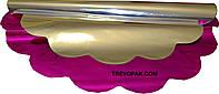 Салфетки для упаковки цветов малиновый металл 50 см (уп.100шт)