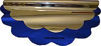 Салфетки для упаковки цветов синий металл 50 см (уп.100шт)