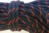 [29м] Верёвка статическая высокопрочная 10мм чёрная Tendon Static 48