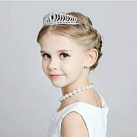 Детская корона, диадема для девочки, высота 4,5 см.