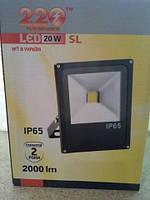 Прожектор LED-SP- 20W 220В 1100lm 6000K кут 120 Slim