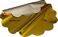 Салфетки для упаковки цветов желтый металл 50 см (уп.100шт)
