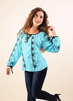Женская блуза нежного бирюзового цвета