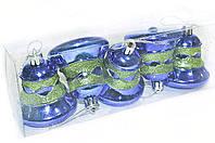 Новогодние игрушки на елку Колокольчики набор 5 шт
