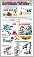 Стенд. Охорона праці під час обслуговування та ремонту машин сільгоспвиробництва. 0,6х1,0. Пластик