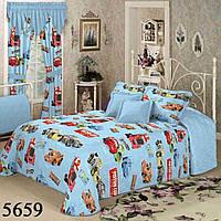 Двуспальный комплект постельного белья Ранфорс Тачки
