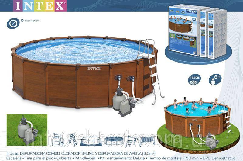 Каркасный бассейн Intex 54968 (569x135 см.)