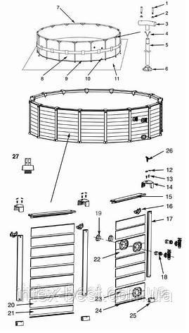 Каркасный бассейн Intex 54972 (478x124 см.), фото 2