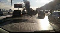 Аварія спровокувала тягучку на столичному мосту