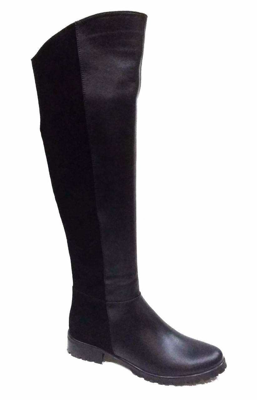 eeb6e7207765 Комбинированные женские зимние сапоги натуральная кожа и замша размеры 37  38 39 - Интернет-магазин