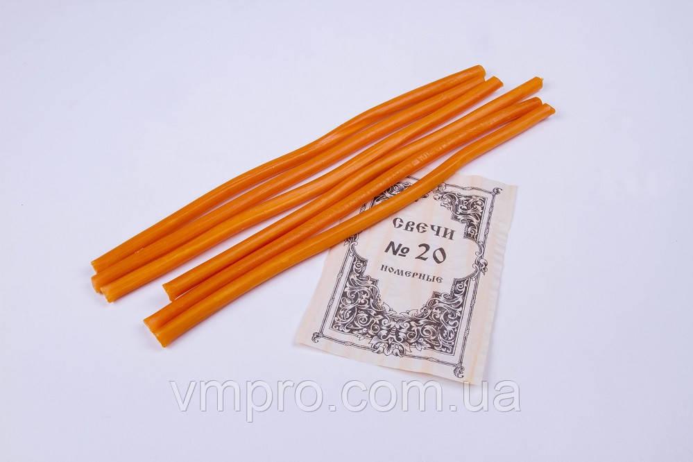 Свічки церковні парафінові №10, 50 шт, L=350 мм, 2 кг/упаковка