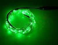 Светодиодная гирлянда нить 10 метров 12 вольт зеленая, фото 1