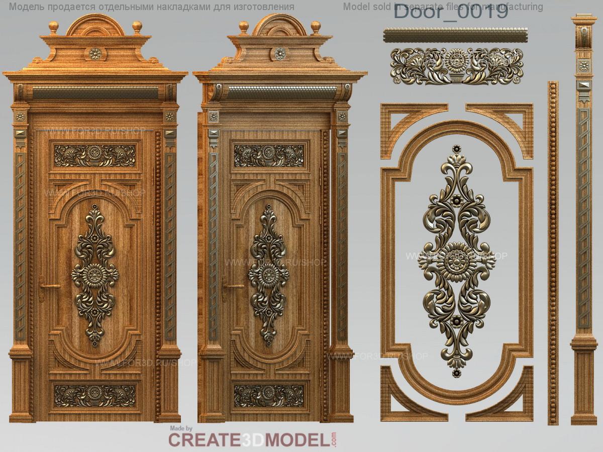 Декоративные резные декоры на  дверь межкомнатную. Д 010