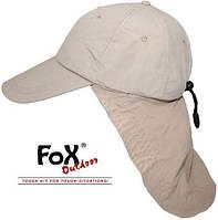 """Кепка с защитой для шеи Fox Outdoor """"Sahara"""" бежевая 10424F"""
