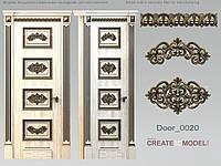 Резные элементы декора из дерева для двери. Д 011