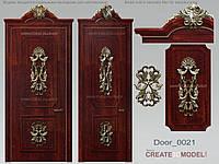 Резной декор из дерева для дверей. Д 012