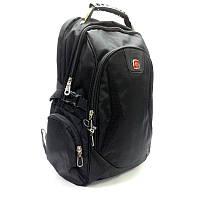 Мужской рюкзак городской с переходником для наушников черный