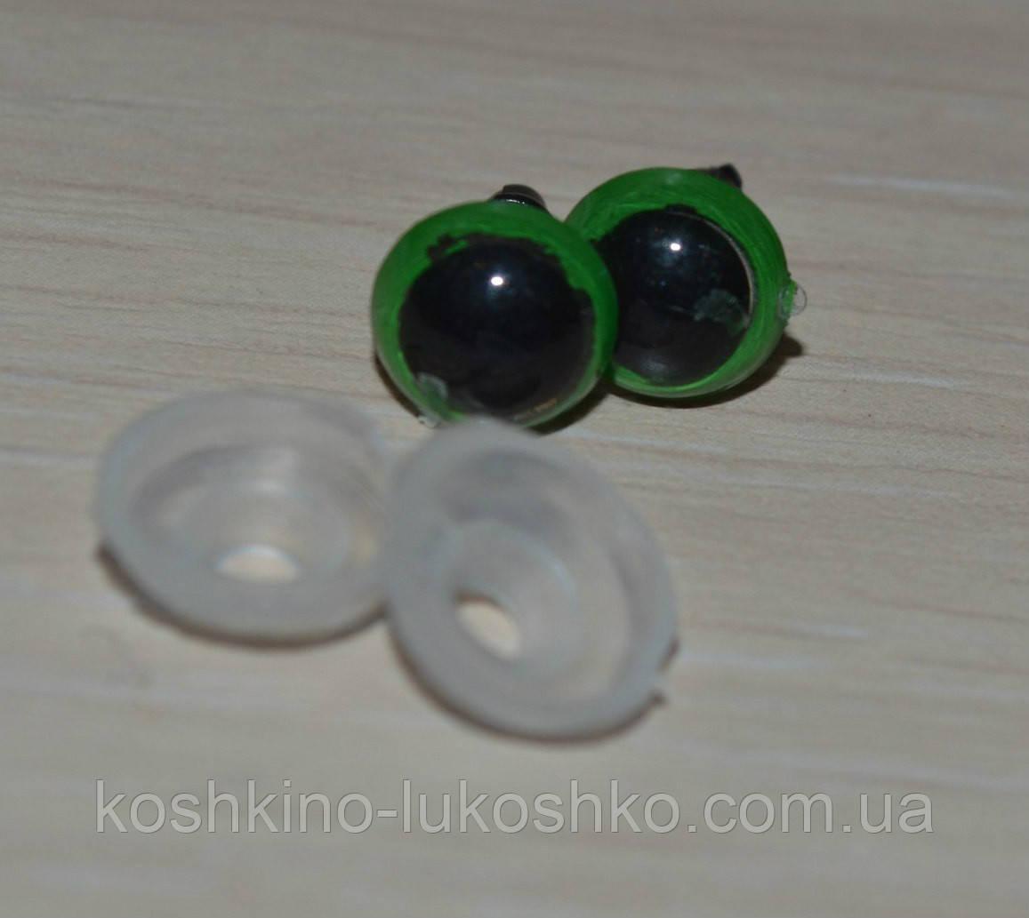 глазки зеленые  8 мм