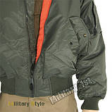 Куртка лётная MA1 США, olive, фото 2