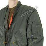 Куртка лётная MA1 США, olive, фото 4