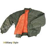 Куртка лётная MA1 США, olive, фото 5