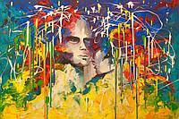 «Мир для двоих» картина акрил