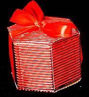 Упаковка подарочная красная гофро 01-R