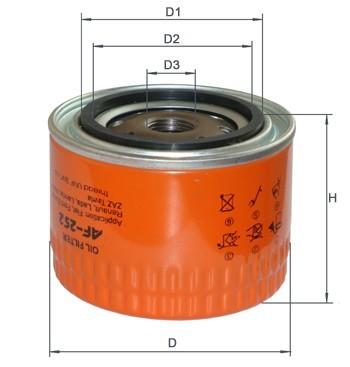 Фильтр масляный AF 252  ВАЗ 2108-09 и далее ( OP520/1 OP615 W914/2 W914/4 WL7168 WL7415 )