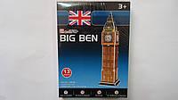 """3D пазл-конструктор """"Big Ben"""",13дет в коробке 220*160*18мм,Cubic Fun.Трехмерная головоломка-конструктор """"Биг Б"""