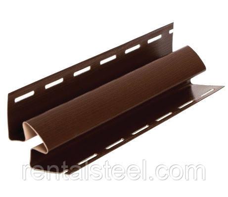 Планка угла внутреннего ТМ FaSiding коричневая